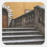 Tierra de Siena, Toscana, Italia - opinión de Pegatina Cuadrada