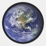 Tierra de Starship Etiquetas Redondas