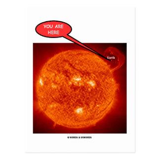 Tierra de Sun usted está aquí (el humor de la astr Tarjetas Postales