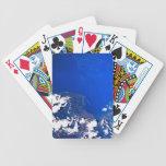 Tierra de un transbordador espacial barajas de cartas
