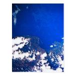 Tierra de un transbordador espacial postales