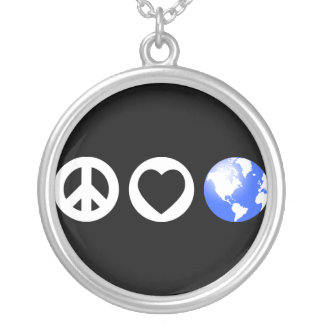 Tierra del amor de la paz colgantes
