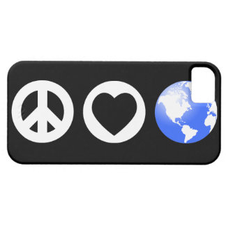 Tierra del amor de la paz funda para iPhone 5 barely there