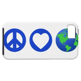 Tierra del amor de la paz funda para iPhone 5 tough