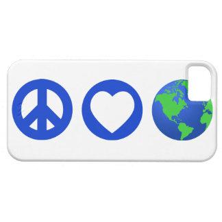Tierra del amor de la paz iPhone 5 carcasas