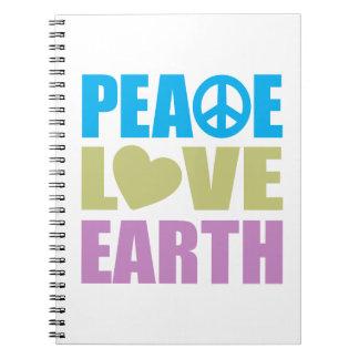 Tierra del amor de la paz libretas