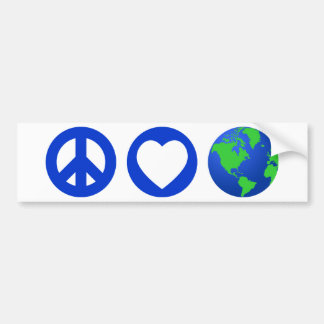 Tierra del amor de la paz pegatina para auto