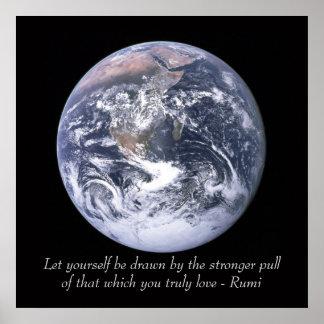 Tierra del amor de Rumi Póster