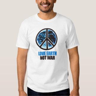 Tierra del amor. No guerra. Camiseta/camiseta del Playeras