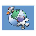 Tierra del astronauta y del planeta postal