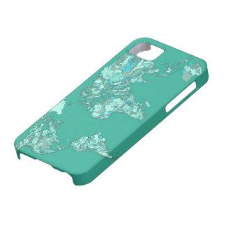 tierra del bosquejo del gris azul iPhone 5 carcasas