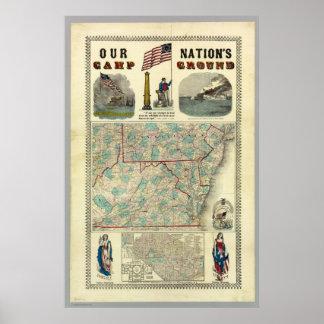 Tierra del campo de nuestra nación póster
