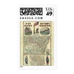 Tierra del campo de nuestra nación sello postal