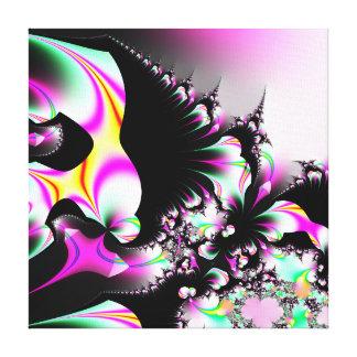 Tierra del caramelo - ilustraciones del fractal impresión de lienzo