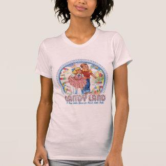 Tierra del caramelo - un pequeño juego dulce tee shirt