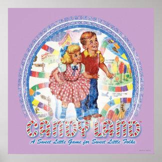 Tierra del caramelo - un pequeño juego dulce póster