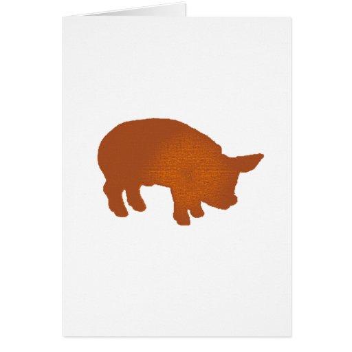 Tierra del cerdo tarjetón