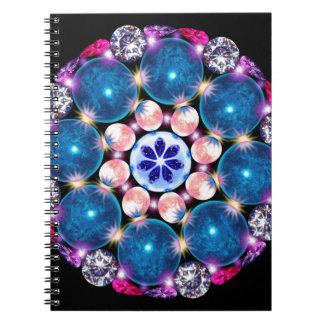 Tierra del cristal de la mandala note book