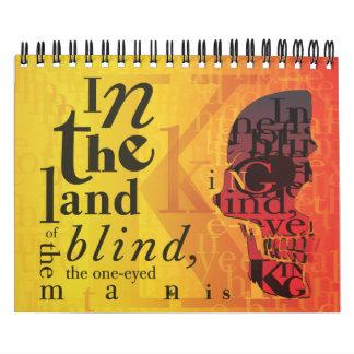 Tierra del diario ciego calendarios