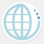 tierra del eco: conserve el agua pegatina redonda