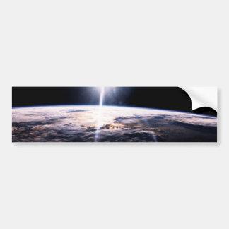 Tierra del espacio pegatina de parachoque