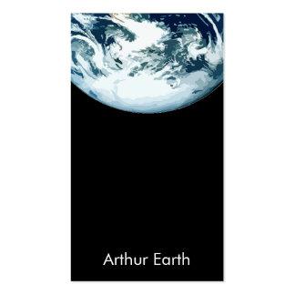 Tierra del espacio con código de QR Tarjetas De Visita
