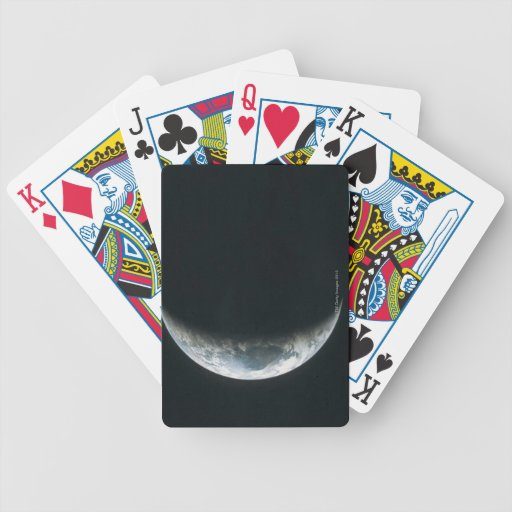 Tierra del espacio exterior baraja cartas de poker