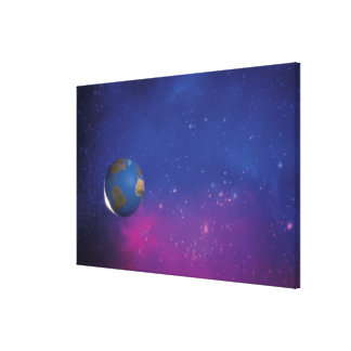 Tierra del espacio exterior impresión en lienzo