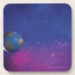Tierra del espacio exterior posavasos
