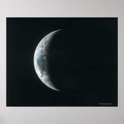 Tierra del espacio exterior póster