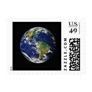 Tierra del espacio exterior sellos