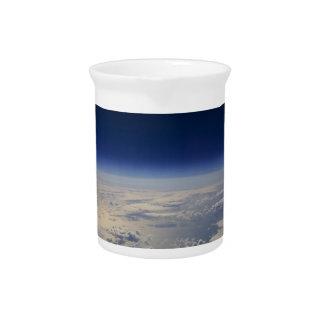 Tierra del espacio jarras