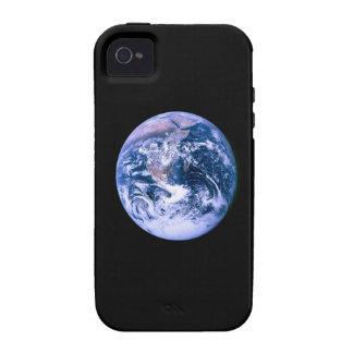Tierra del espacio 'Marble azul iPhone 4/4S Funda
