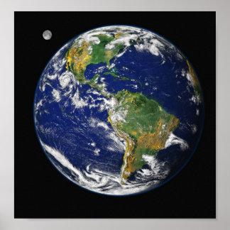 Tierra del espacio póster