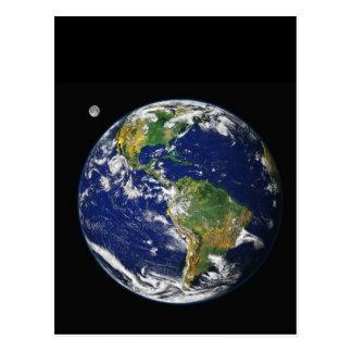 Tierra del espacio postal