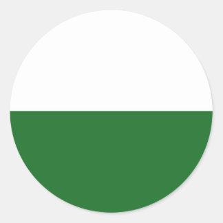tierra del estado del país de Alemania de la Pegatina Redonda