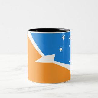 Tierra del Fuego Argentina flag fire land province Two-Tone Coffee Mug