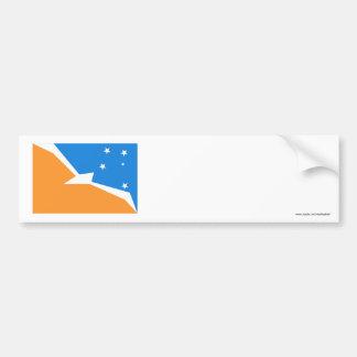 Tierra del Fuego flag Car Bumper Sticker