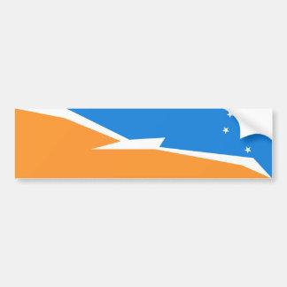 Tierra Del Fuego Flag. Patagonia, Argentina Bumper Sticker
