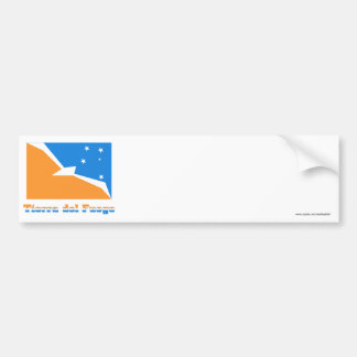 Tierra del Fuego flag with name Car Bumper Sticker