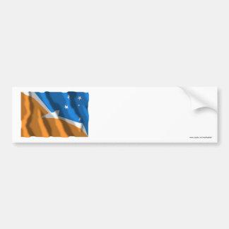 Tierra del Fuego waving flag Car Bumper Sticker