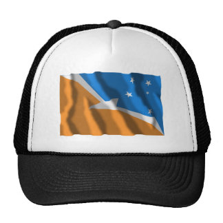 Tierra del Fuego waving flag Hats