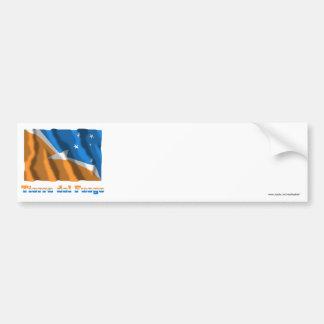 Tierra del Fuego waving flag with name Car Bumper Sticker