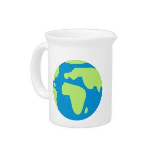 Tierra del globo del mundo jarras