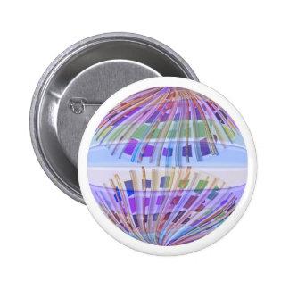 Tierra del GLOBO:  Demostración ligera púrpura san Pin Redondo De 2 Pulgadas