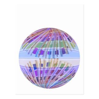 Tierra del GLOBO:  Demostración ligera púrpura Postal