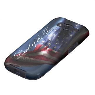 Tierra del libre+Bandera americana Samsung Galaxy S3 Coberturas