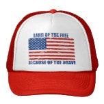Tierra del libre debido al gorra valiente