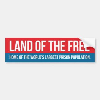 Tierra del libre etiqueta de parachoque
