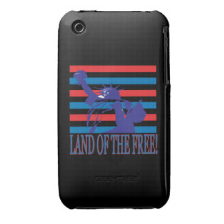 Tierra del libre iPhone 3 Case-Mate cárcasa